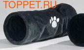 Beeztees Туннель для кошек Crispy плюшевый серый 22х60см