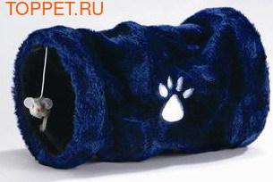 Beeztees Туннель для кошек маленький плюшевый, в ассортименте, 17х30см