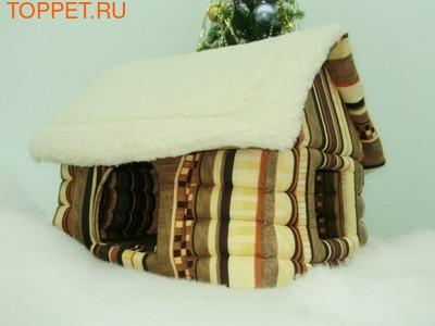 Бобровый дворик Домик для собак Избушка Зимняя сказка, размер 62х52х47см