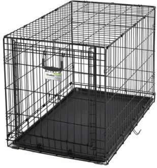 MidWest Клетка Ovation 95х59х64h см с торцевой вертикально-откидной дверью черная (фото)