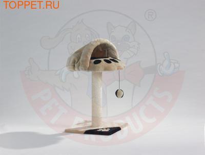 Beeztees Когтеточка-дом с норой 36*36*70см