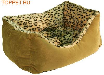 Зооэкспресс Лежанка пухлик, меб.ткань и мех, цвет в ассортименте (фото)