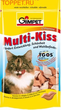Gimpet Multi-Kiss Мультивитамины для кошек 40гр