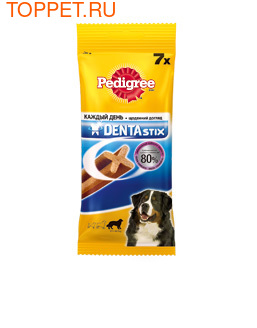 "Педигри Пластинки ""Denta Stix"" для снятия зубного камня у крупных собак 270г"
