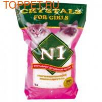 №1 Crystals For Girls Наполнитель силикагелевый 5л, розовый