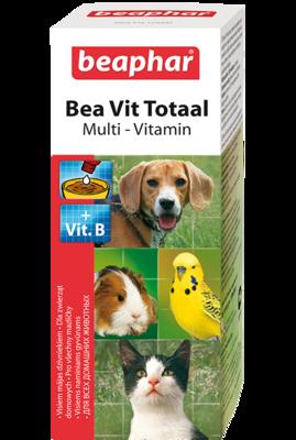 Beaphar Bea Vit Total Комплекс витаминов для кошек, собак, птиц, грызунов 50мл