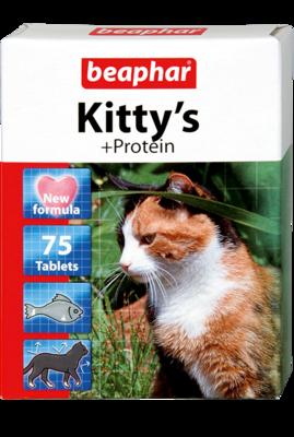 Beaphar Kittys Витамины для кошек Сердечки Протеин (фото)