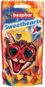 Beaphar Sweethearts для кошек Сердечки со вкусом курицы 150шт