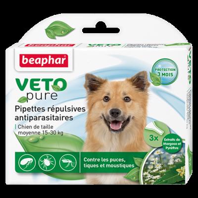 Beaphar БиоКапли для собак средних пород 15-30кг от блох и клещей 3 пипетки