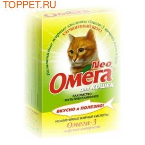 Омега Neo Лакомство для кошек Морские водоросли 90табх5шт