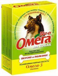 Омега Neo Лакомство для собак Биотин 90табх5шт