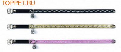 Beeztees Ошейник для кошек с блестящей волной розовый 34см*10мм