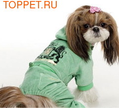 I's Pet Костюм цвет зеленый, велюр, размер М