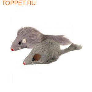 """Триол Игрушка для кошек Мышь 2"""", серая, 24шт"""