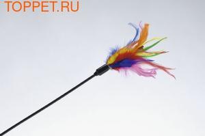 Beeztees Игрушка для кошек Дразнилка с перьями 51см