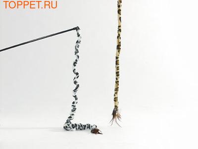 Beeztees Игрушка для кошек Удочка с хвостом сафари, в ассорт. 70см