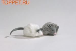 """Beeztees Игрушка для кошек Мышь """"Foxy"""" меховая 7см"""