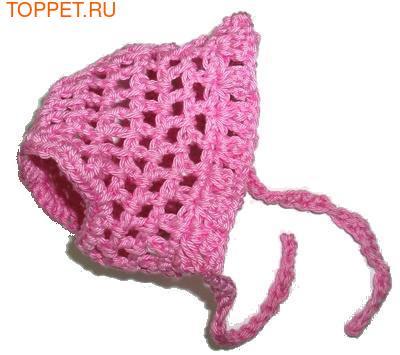 Панамка для собак розовая, размер S (фото)