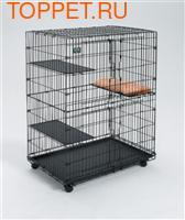 "MidWest Клетка для кошек ""Cat Cage"" 91.4х58.5х127м черная (фото)"