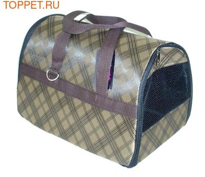 Fluk Сумка-переноска для собак и кошек №2 коричневая с карманом, 37х24х26см (фото)