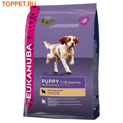 Eukanuba Puppy & Junior Lamb&Rice Для щенков, ягненок с рисом, сух.