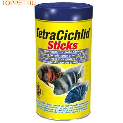 Tetra Cichlid Sticks Корм для цихлид и крупных декоративных рыб, палочки 250мл