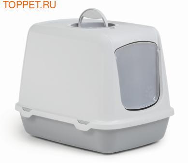 Beeztees Oscar Туалет-домик для кошек серый, размер 50*37*39см
