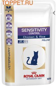 Royal Canin Sensitivity Control пауч для кошек с пищевой непереносимостью Цыпленок/Рис 100гх12шт