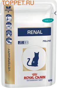 Royal Canin Renal Feline пауч для кошек при почечной недостаточности Тунец 85гх12шт