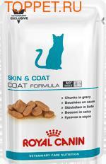 Royal Canin Skin & Coat Formula пауч для длинношерстных кастрированных котов и кошек 100гх12шт