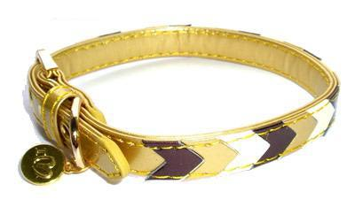 ForMyDogs Ошейник для собак золото, мульти, размер 1,3*30см