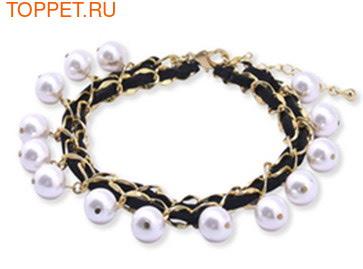 I's Pet Ожерелье из жемчуга с элементами Swarovski 25,0-30,0см