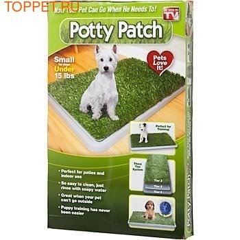 Туалет для собак Potty Patch с искусственной травкой, размер 68cm x 43cm