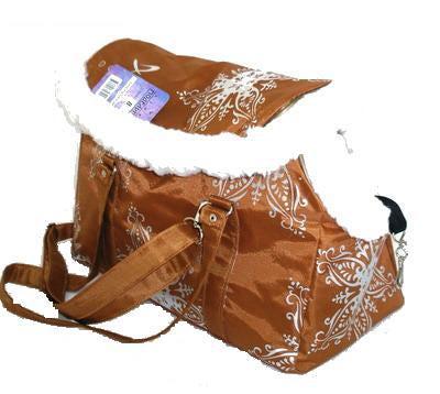 DOGMAN Сумка -переноска теплая с мехом №8М, кирпичная, 39х19х24см. (фото)