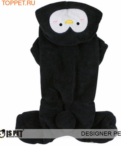 I's Pet Костюм для собак флисовый, цвет черный, размер М