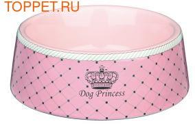 """TRIXIE Миска для собак """"Princess"""", 1 л/ø 20 см, керамика, розовый (фото)"""