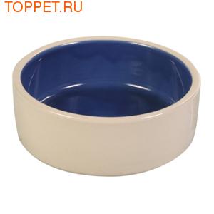 TRIXIE Миска для собак керамическая беж/синяя 0,35лх12см