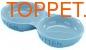 Nobby Миска керамическая голубая двойная 22см