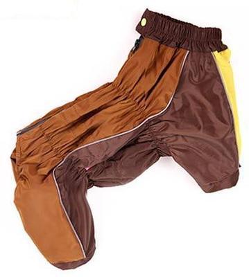 ForMyDogs Дождевик для крупных пород собак коричневый, размер B2, длина спины 45см, модель для девочки