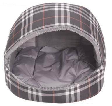 Lion Домик для собак и кошек «Эстрада», серая шотландка, размер S, М