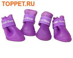 Сапоги резиновые для собак, цвет фиолетовый, размер S, L