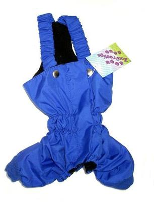 ZooPrestige Брюки для собак, утепленные, синий цвет, на флисе, размер S, L, XL (фото)