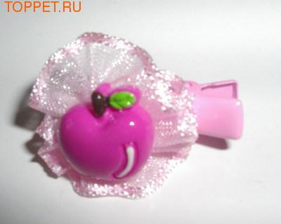 """ForMyDogs Зажим для волос """"Яблоко"""" 2,5см, цвет розовый."""