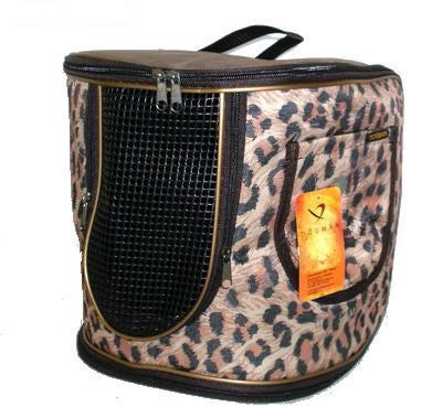 DOGMAN Рюкзак для собак и кошек малый леопард, размер 29х26х25см (фото)