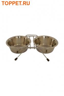 Papillon Две миски на подставке, 13, 16см, 21см (Double dinner wire frame including bowls) 175408