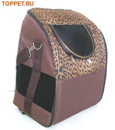 "DOGMAN Рюкзак для собак и кошек""Вояж"", леопард, размер 38х29х22см (фото)"