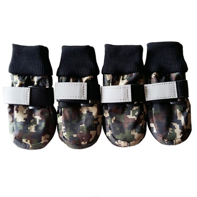 Al1 Ботиночки-носочки для крупных пород собак, милитари, размер М