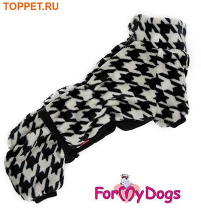 ForMyDogs Теплый комбинезон для такс, модель для мальчиков. Цвет черный, размер ТМ2, ТС1