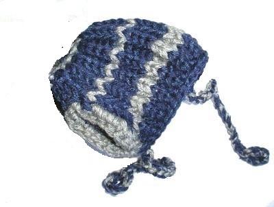 Шапочка вязанная синяя, размер М/L (фото)