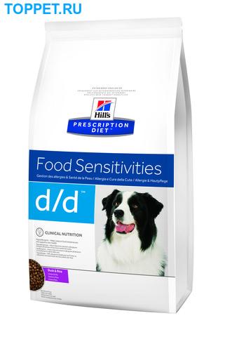 HILL'S Диета для собак D/D Утка/Рис лечение пищевых аллергий сух. (фото)